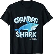 Mens Grandpa Shark T-Shirt