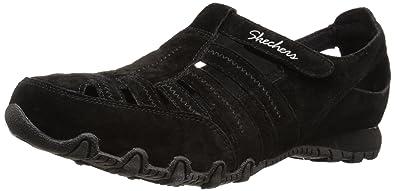 Skechers Women's Bikers Snapper Sandal,Black Suede,6 ...