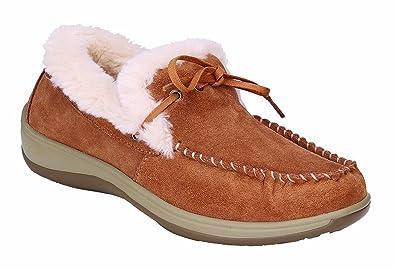 9b4557116af Orthofeet Comfortable Plantar Fasciitis Capri Womens Orthopedic Diabetic  Flat Feet Womens Leather Moccasins Camel
