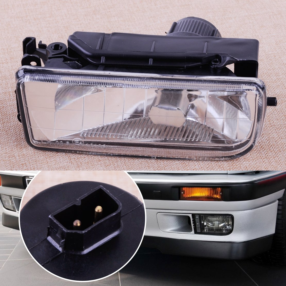 CITALL Left Bumper Driving Fog Light Housing Case Clear Lens fit for BMW M3 318 325 E36 1992-1998