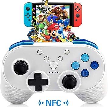 BestFire - Mando inalámbrico para Nintendo Switch Pro Gamecube (Mando a Distancia, Bluetooth, con Cable de Carga USB, Compatible con NFC y Control de Movimiento, Doble vibración, Color Blanco): BestFire: Amazon.es: Electrónica