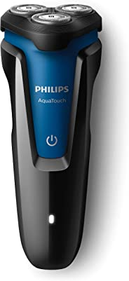 Barbeador Aquatouch, Philips, S1030/04, Preto/Azul