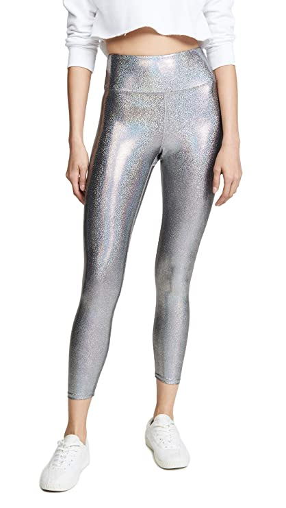 Heroine Sport Women's Marvel Leggings, Matrix, Silver, Metallic, Small