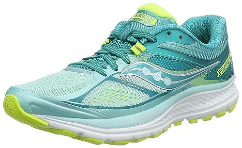 Saucony Guide 10 W, Zapatillas de Running para Mujer, Turquesa (Teal/Citron), 37.5 EU: Amazon.es: Zapatos y complementos
