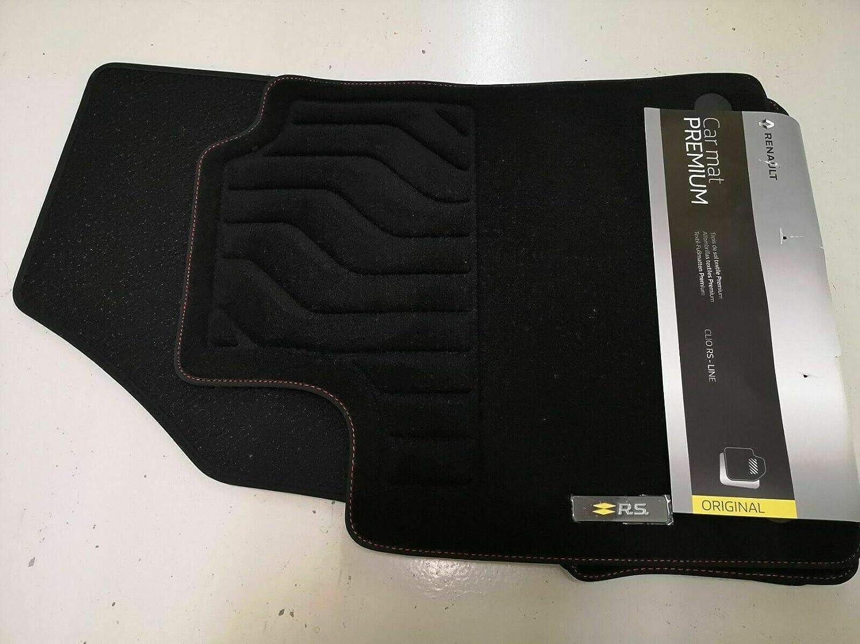 Voiture Universel Tapis De Sol-Noir avec ourlet noir pour Renault Clio Laguna Megane