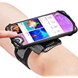 Newppon 180° Rotatable Running Phone Armband :with Key Holder for Apple iPhone 11 Pro Max Xs XR X 8 7 6 6S Plus Samsung Galax