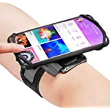 Newppon 180° Rotatable Running Phone Armband :with Key Holder for Apple iPhone Xs Max XR X 8 7 6 6S Plus Samsung Galaxy…