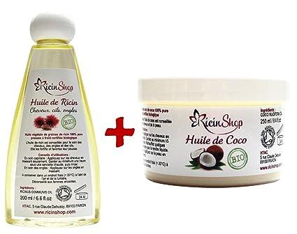 Aceite de Ricino Bio y aceite de coco BIO Premium DE ALTA CALIDAD Special el cuidado