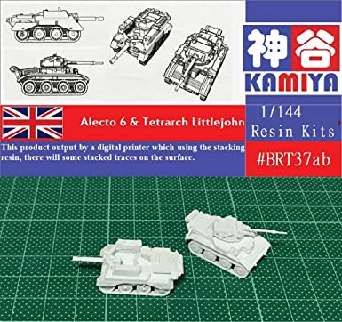 KAMIYA 1//144 WWII British Alecto 6 /& Tetrarch Littlejohn Resin Kit #BRT37AB