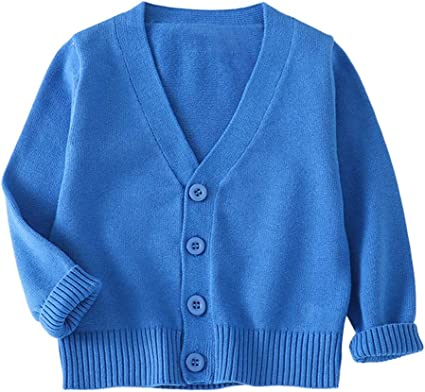 Boys Thick Stripe Knitted Fleece Lined Hood Button Cardigan Sizes 1 2 3 Years