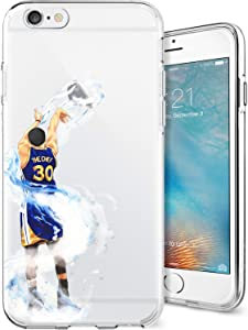 ETERINS Cases Ultra Slim [Crystal Clear] [Hardwood Series] Soft Transparent TPU Case Cover - Splash Curry for iPhone 6 6s Plus