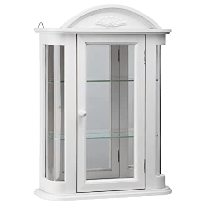 Beau Design Toscano BN15221 Rosedale Wall Curio Cabinet, Lily White