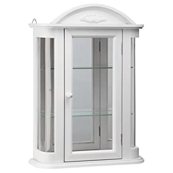 Design Toscano BN15221 Rosedale Wall Curio Cabinet, Lily White