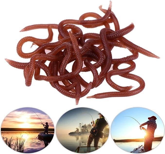 Weichen Köder Karpfenangeln Silikon Geruch Rot Wurm Iscas Artificiais Pesca # R.