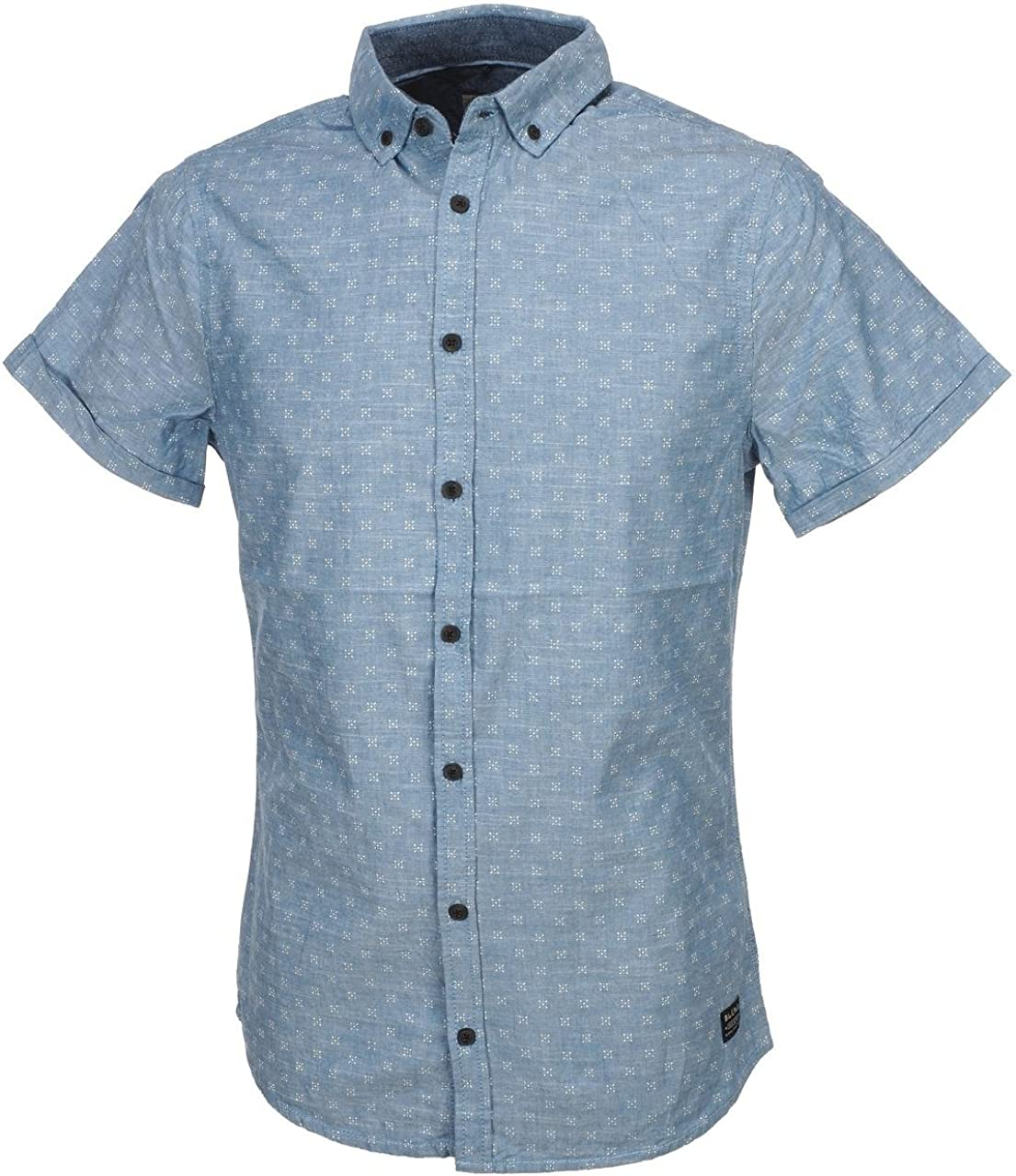 BLEND - Camisa Casual - para Hombre Azul Celeste 42: Amazon ...