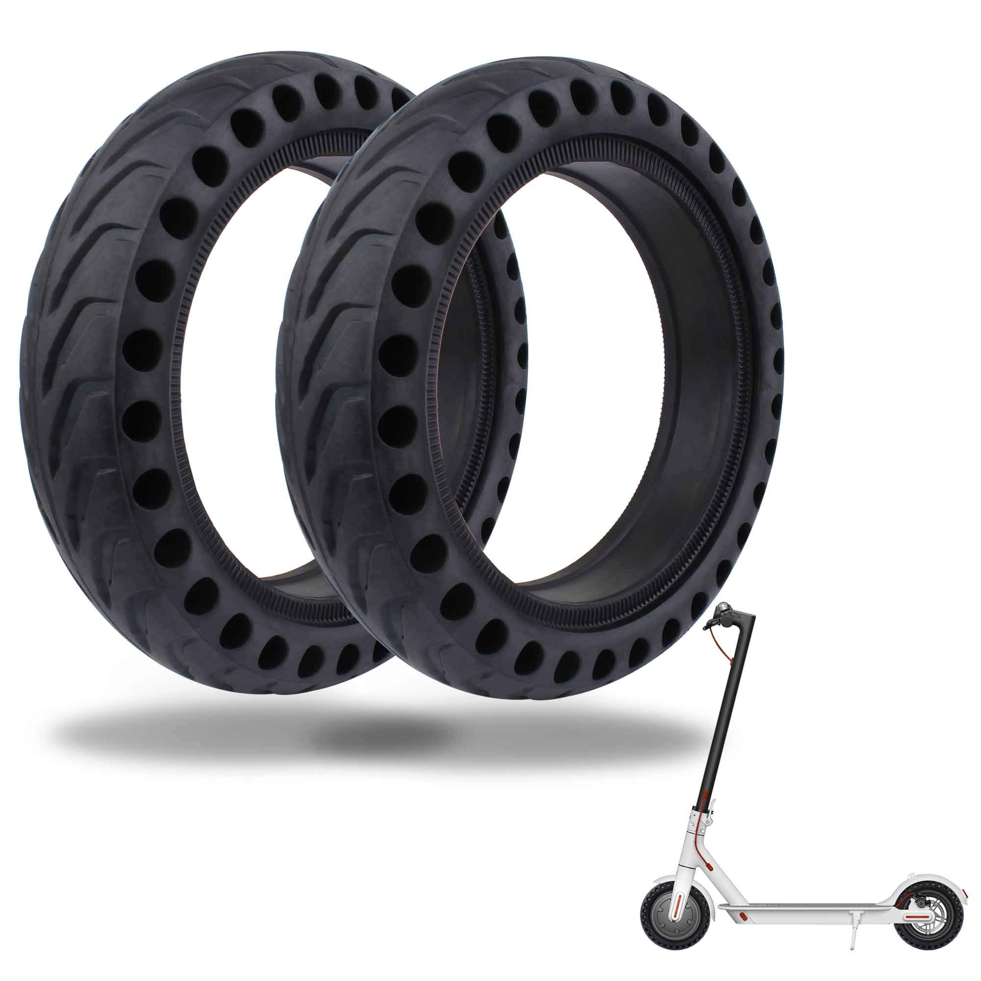 TOMALL Honeycomb Rubber Damping Solid Tire 8.5 Inch Front/Rear Tire Wheel Replacement for Xiaomi M365 Electric Scooter 2PCS by TOMALL