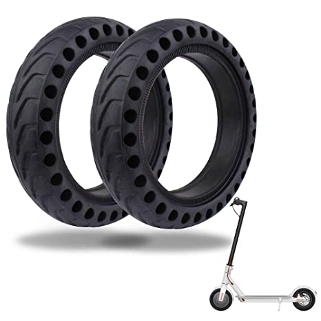 TOMALL Honeycomb Rubber Damping Solid Tire 8.5 Pulgadas ...