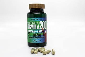 Amazon.com: Moringa F200 Guaraná + Chía 100% natural: Health ...