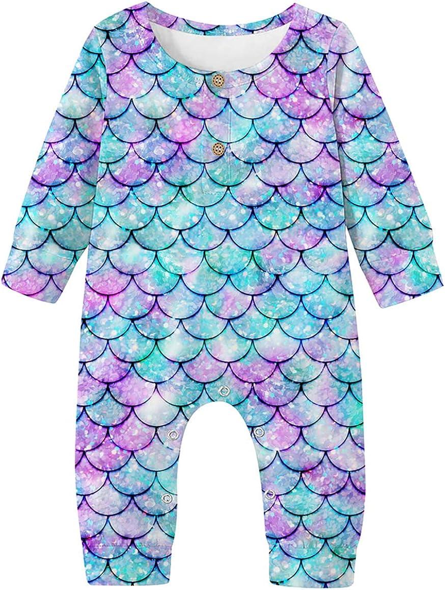 UNICOMIDEA Newborn Baby Boy Girl Romper Bodysuit 3D Print One Piece Jumpsuit Outfits 0-18 Month