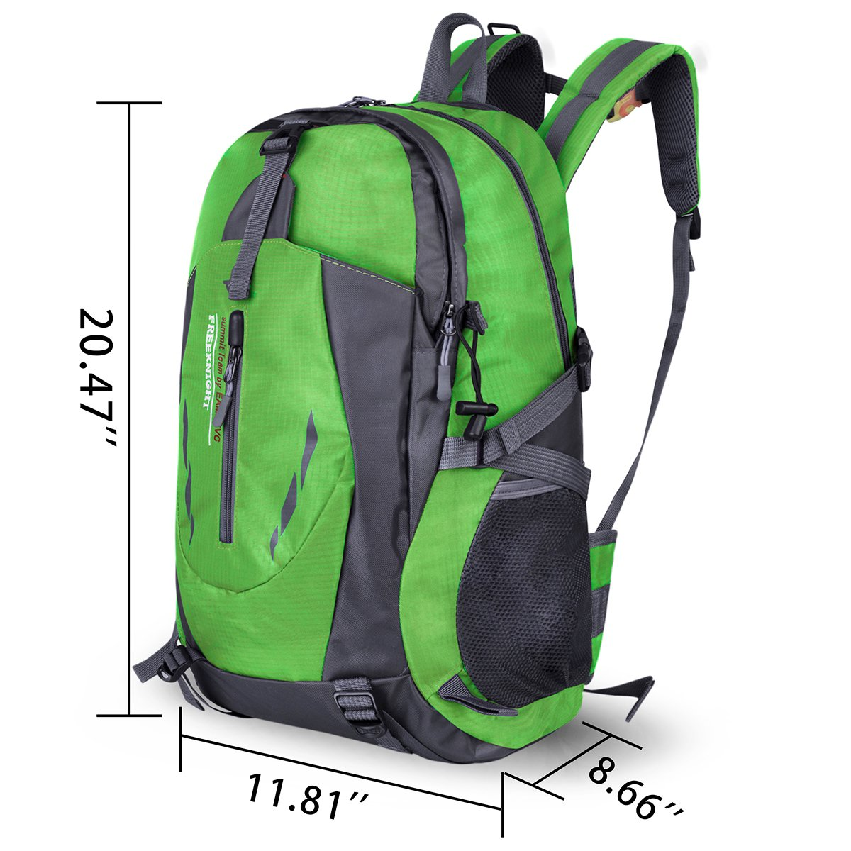 Water Resistant Sports Backpack Lightweight Outdoor Bag for Travel Hiking Climbing Camping Mountaineering (Green)