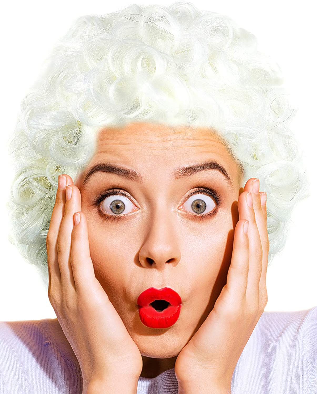 Balinco Großmutter | Oma | Granny | Grandma Perücke weiß