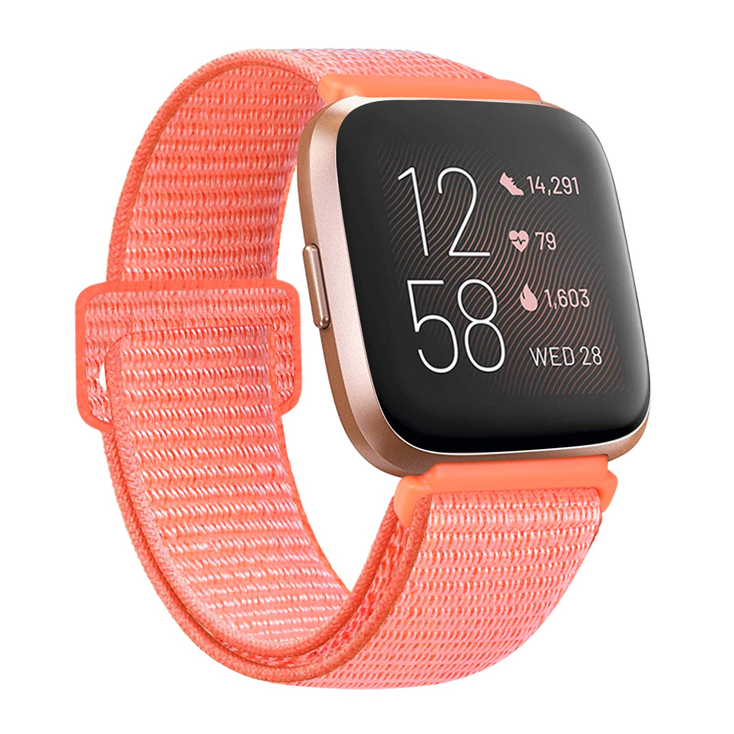 AK Bands Compatible with Fitbit Versa 2/ Versa Lite/Versa SE, Soft Replacement Wristband Sport Loop with Fastener Adjustable Closure for Women Men
