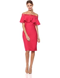 7dd48d9481f4 Tadashi Shoji Women s Ruffle Off The Shoulder Dress at Amazon ...