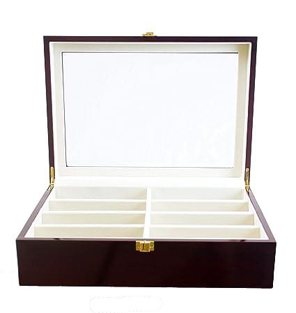 Luxury Eight-Compartment Sunglasses Organizer Jewelry Case
