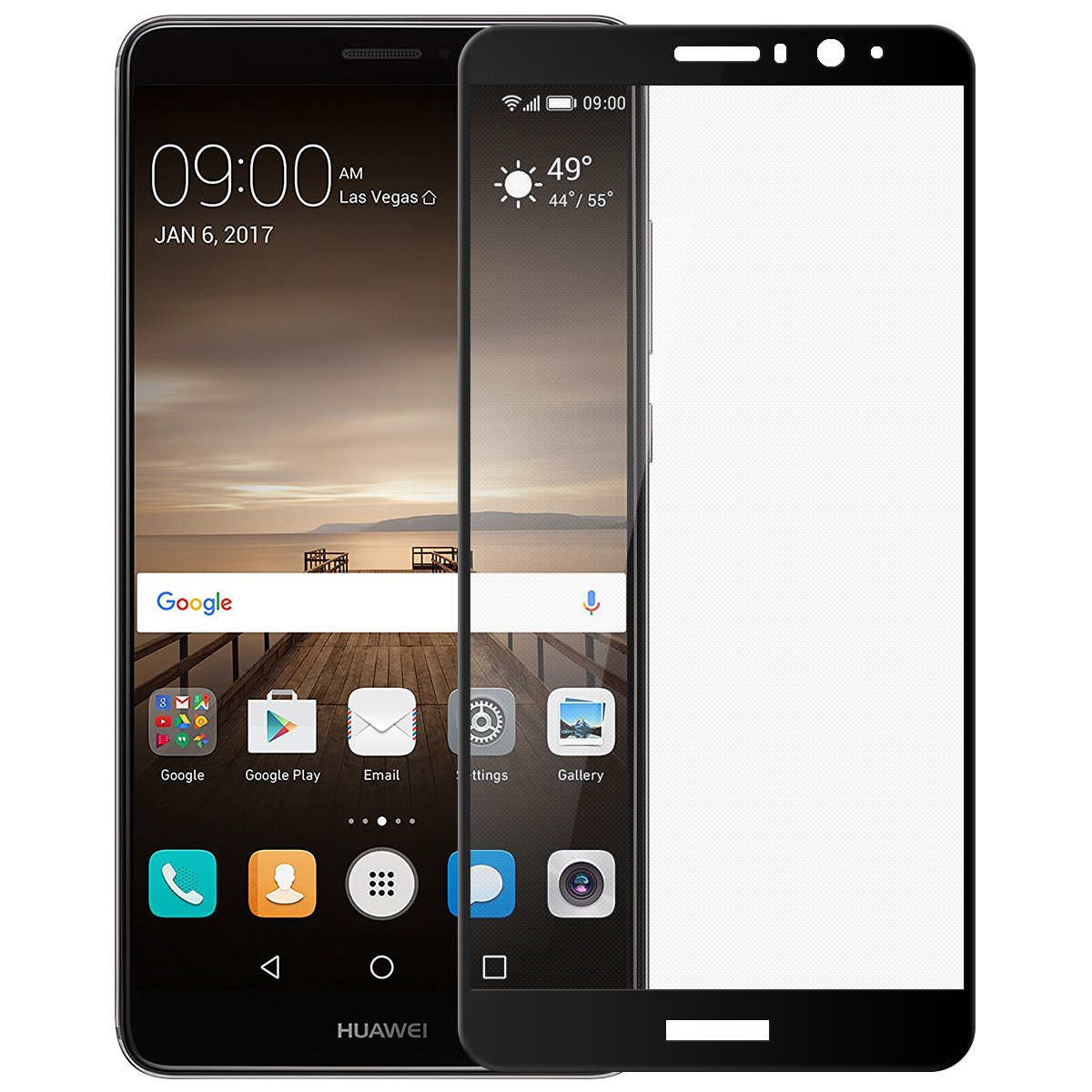 unidades Huawei Mate Protector de pantalla wellead Full Screen tanque Curved Cristal