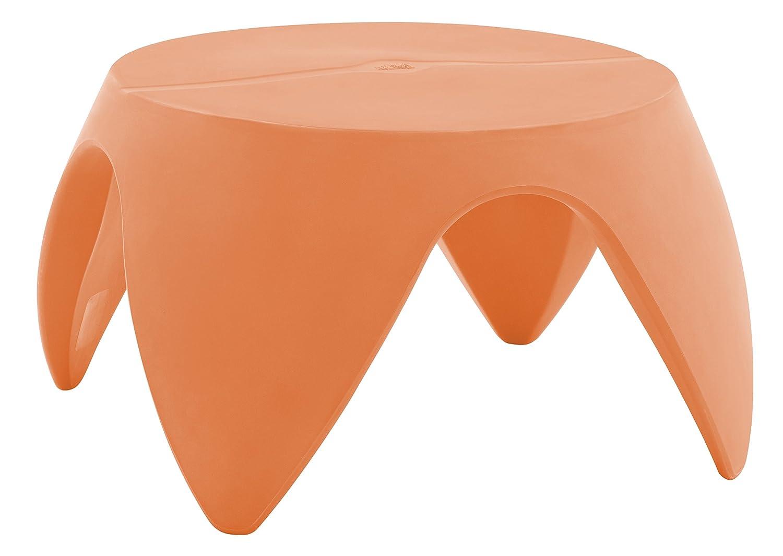 "ECR4Kids Indoor/Outdoor Furniture 18"" Blossom Table, Orange"