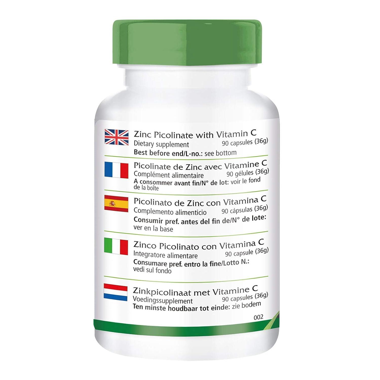 Picolinato de Zinc con Vitamina C - Altamente dosificado ...