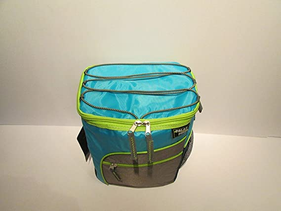 0d6a0fde6e6c Polar Pack 12 Can Cooler Insulated Collapsible with Pockets and Shoulder  Strap(1 Gallon) TEAL