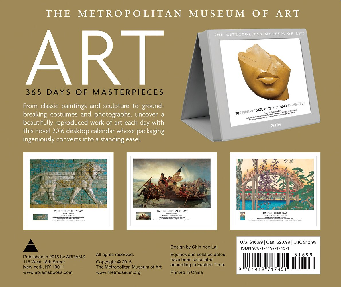 Copyright 169 2017 the design co all rights reserved - Art 365 Days Of Masterpieces Metropolitan Museum Of Art 9781419717451 Amazon Com Books