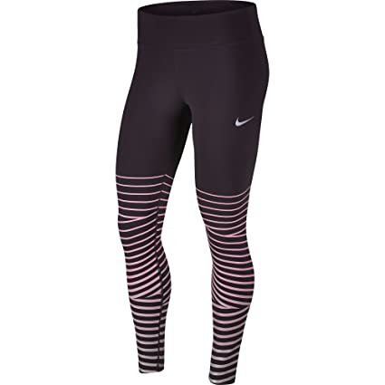5648b542 Buy Nike Women's Power Epic Lux Flash Running Tights Port Wine MED ...