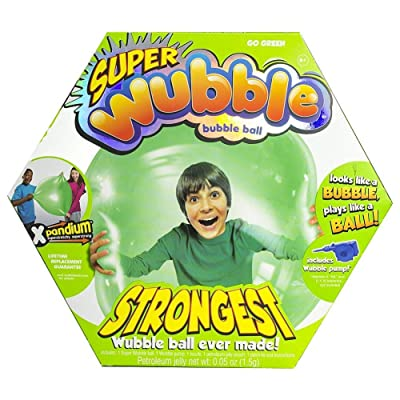 Wubble The Amazing Tear-Resistant Super Bubble Ball - Green: Toys & Games