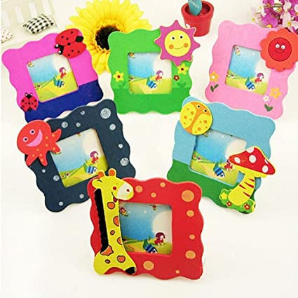 Buy ARIRA Wooden Cute Animal Design Photo Frame For Birthday Return Gift Mix Set Of 6 Online At Low Prices In India