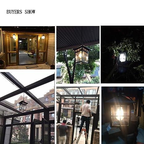 American exterior impermeable a prueba de óxido de vidrio de aluminio lámpara colgante Modern Villa jardín corredor pasillo Balcón Garaje E27 Edison araña ...