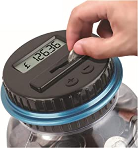 Копилка 2.5L Bank Counter Coin Electronic Digital Counting Coin Money Saving Box Jar Coins Storage Box for USD Euro GBP (Color : GBP Type)