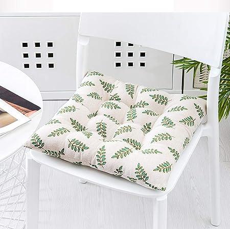 Grande Cojines sillas jardin exterior Cuadrado,Espesar Amortiguador de asiento de coche silla oficina Restaurante al aire libre Cómodos cojines para silla Patio de casa jardín-V 40x40cm(16x16inch): Amazon.es: Hogar