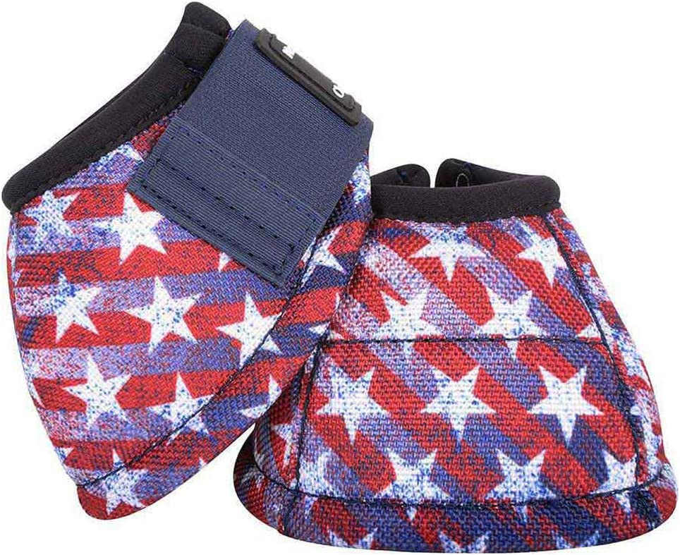 Classic Equine Dynohyde No Turn Bell Boot Stars//Stripes Small