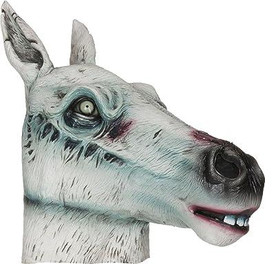 costume halloween adulte effrayant Zombie Accessoire déguisement masque  CAOUTCHOUC MASQUE , cheval Masque, One size