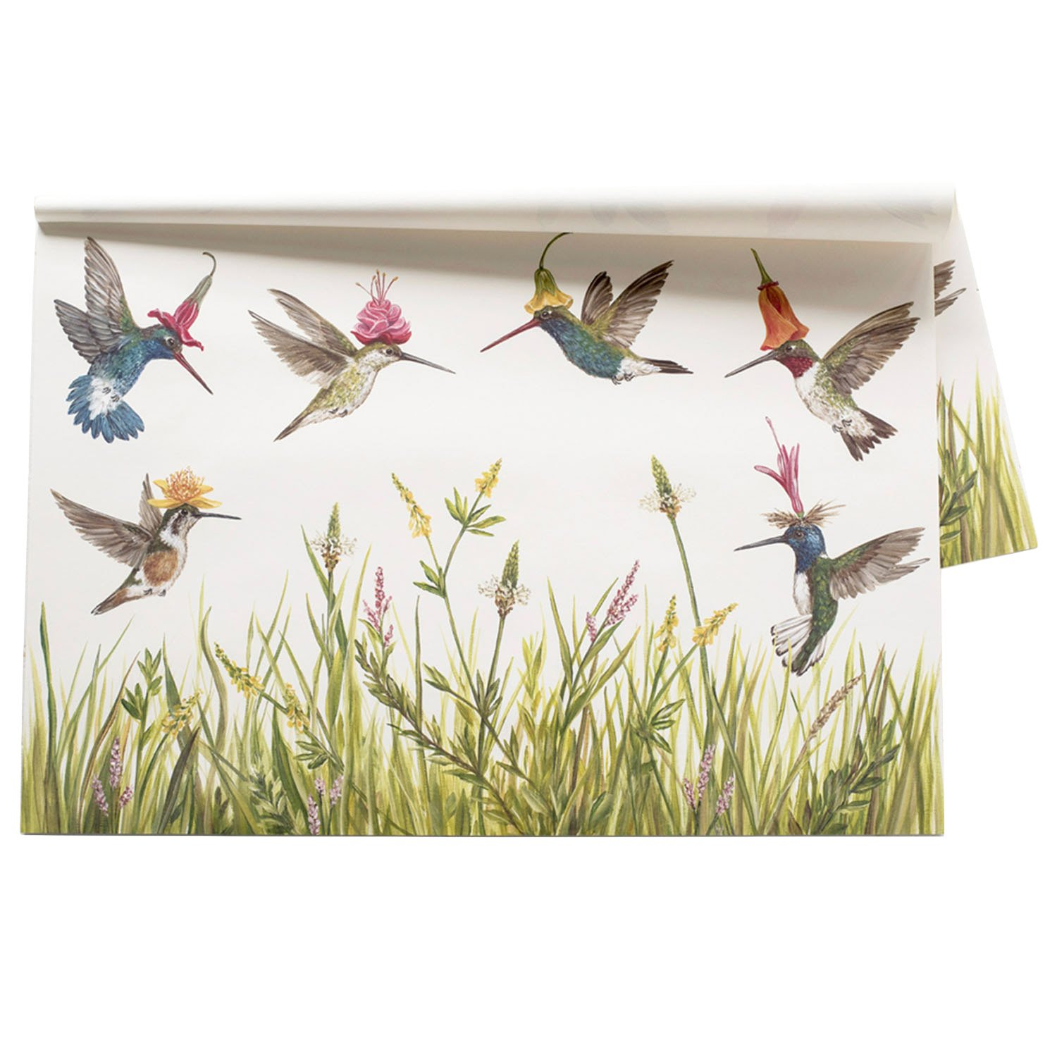 Kitchen Papers Hummingbird Paper Placemat Set/30 American Made