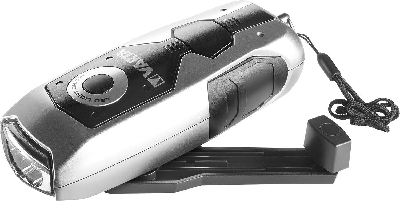 Varta 3x 5 mm LED Dynamo Light mit Handkurbel Taschenlampe Flashlight Handlampe Leuchte (mit Kurbel - 100% batterieunabhä ngig - geeignet fü r Auto, Garage, Notfall, Stromausfall, Camping, Outdoor) 17680101401