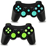 2pcs Pack Wireless Double Vibration Controller for PS3 Bluetooth Sixaxis Gamepad Remote for Playstation 3