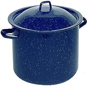 IMUSA USA C20666-10636W Speckled Enamel Stock Pot 7.75-Quart, Blue