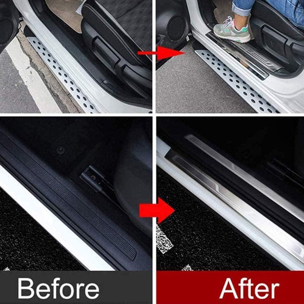 AMPTRV Plaques Protection seuil Porte Voiture plinthes Auto pour Citroen C3 C4 C5 2010-2021,Accessoires Modification int/érieure Voiture p/édale de Bienvenue en Acier Inoxydable Anti-Rayures