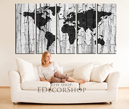 Extra large wall art canvas world map black world map on white extra large wall art canvas world map black world map on white embossed wall background gumiabroncs Gallery