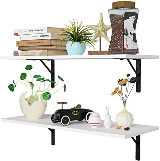 Wall Hanger Accessories for Living Room Bedroom Bathroom and Kitchen Decorative One76 Roll Paper Holder Wooden Floating Shelving