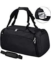 47d45136c41a NEWHEY Sports Gym Duffel Bag with Shoe Compartment Waterproof Travel  Holdall Large Sports Bag for Men