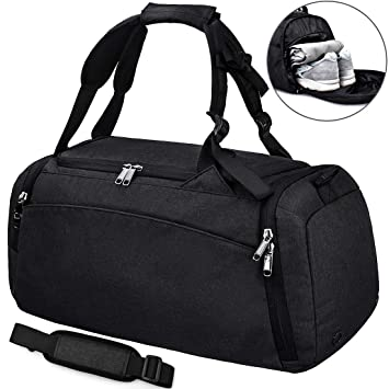 NEWHEY Sports Gym Duffel Bag with Shoe Compartment Waterproof Travel Holdall  Large Sport Duffle Bag for 924b25afce069